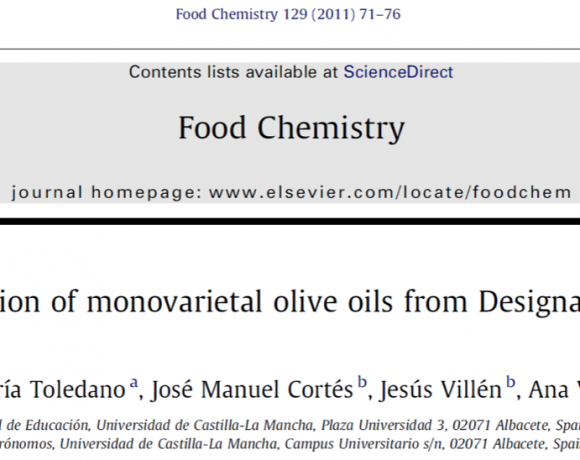 Wax ester composition of monovarietal olive oils from Designation of Origin (DO) ˮCampos de Hellinˮ