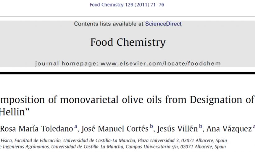 Wax ester composition of monovarietal olive oils from Designation of Origin (DO) ˮCampos de Hellinˮ