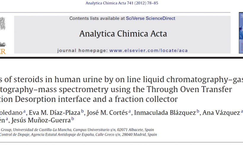 Analysis of steroids in human urine by on-line liquid chromatography-gas chromatography-mass spectrometry using the Through Oven Transfer Adsorption Desorption Interface and a fraction collector.
