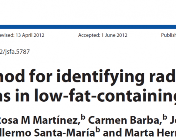 A quick method for identificatifyind radiolytic hydrocarbons in low-fat-containing food.